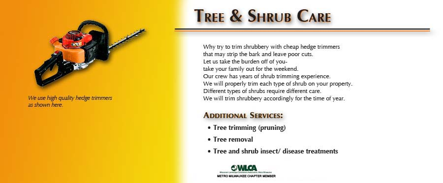 Tree and Shrub Care